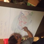 Making a map of the NC we would like to live in during a mapping workshop with NC Heat.