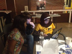 Youth organizers from NC Heat learn to use Indiemapper software during a school-to-prison pipeline mapping workshop.